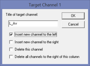 Figure 2 Inserting a new channel average