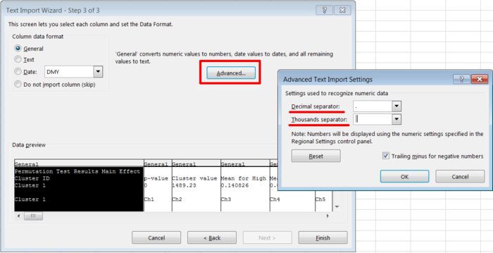 Figure 5 Microsoft Excel Text Import Wizard Step 3