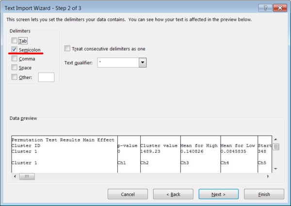 Figure 4 Microsoft Excel Text Import Wizard Step 2